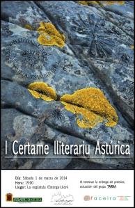 Cartel certame lliterariu Astúrica (Llionés)